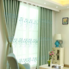 100% polyester Modern Style fancy Embroidery Blackout Window Curtain