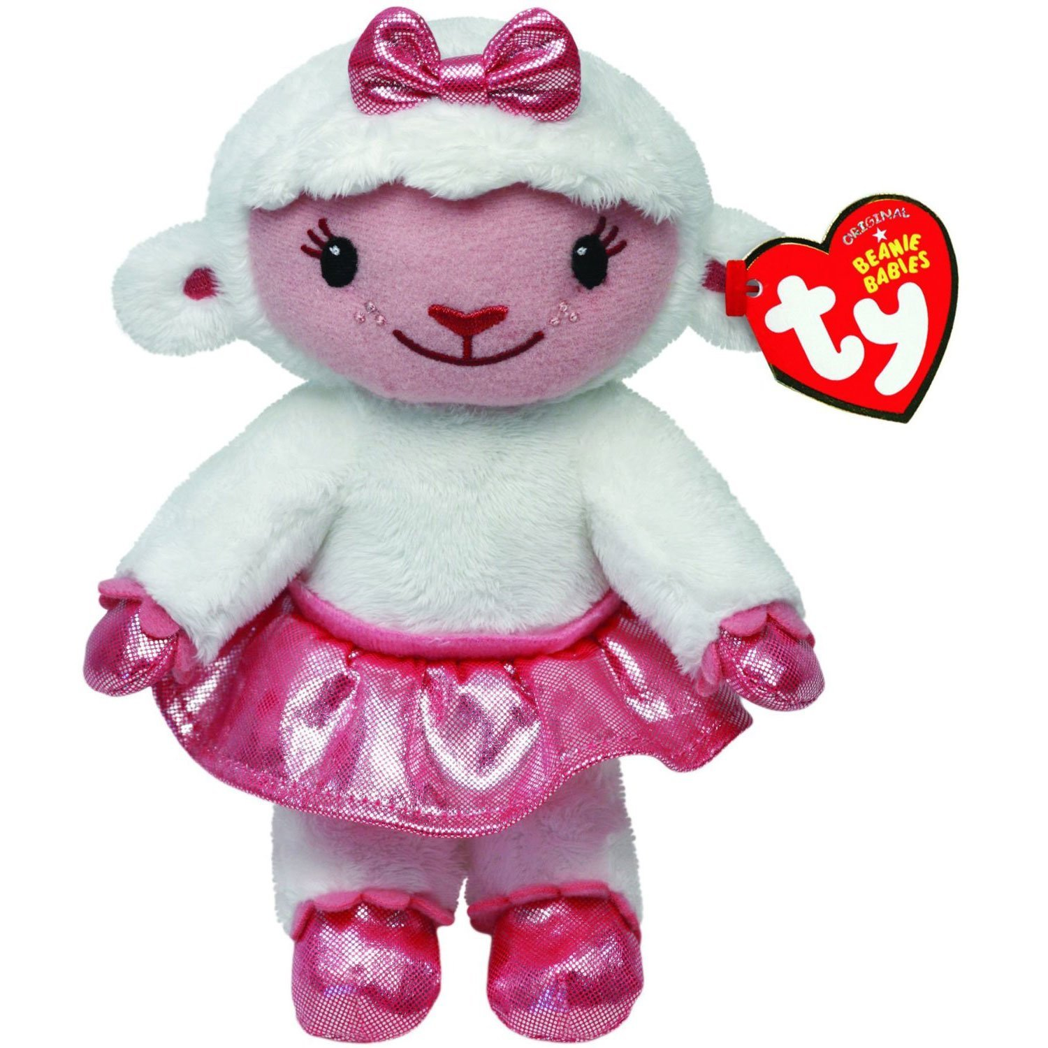 5974b2e76d1 Get Quotations · Lambie Lamb Beanie Medium - Stuffed Animal by Ty (90155)  by Ty Beanies