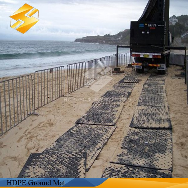 Temporary Construction Roads : Durable temporary construction ground protection mat hdpe