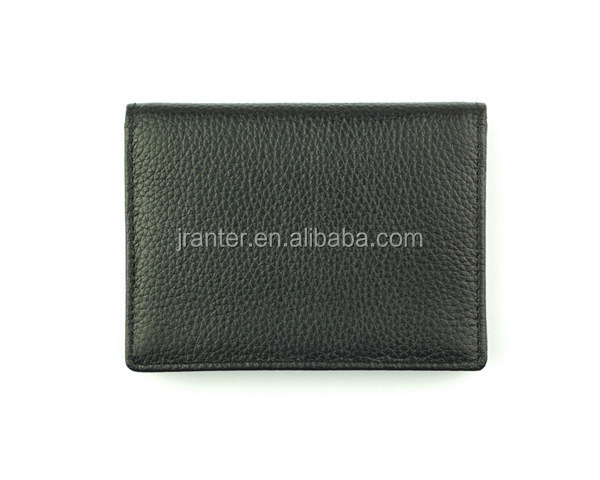 Custom Brand/Logo Leather Small Card Holder Wallet Business Card Wallet