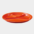 A5 restaurant 4 divided compartments orange plates melamine fruit food plastic compartment plate