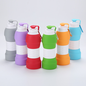 Amazon BPA Free High Quality Expandable Folding Collapsible Travel Sports Drinking Silicone Foldable Water Bottle