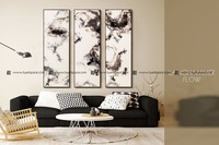 Chinese art painting wall decor double-deck silk picture printing