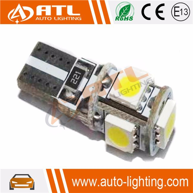 ATL Wholesale high bright led chip 5050 canbus BA9S t10 5smd