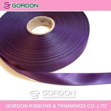 purple color polyester thin satin ribbon,satin ribbon tape