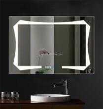 elegante estilo europeo led sin marco espejo del bao con luces