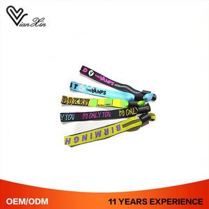 Hand Bands Cheap Custom Logo Disposable Gift Create Woven Wristbands