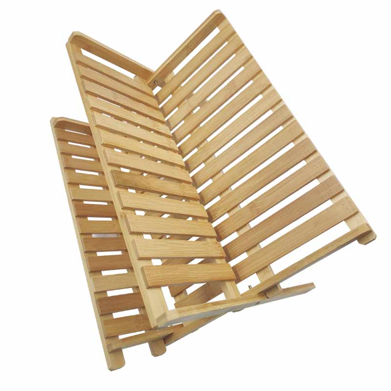High Quality Kitchen Bamboo X Shaped Folding Dish Rack 9