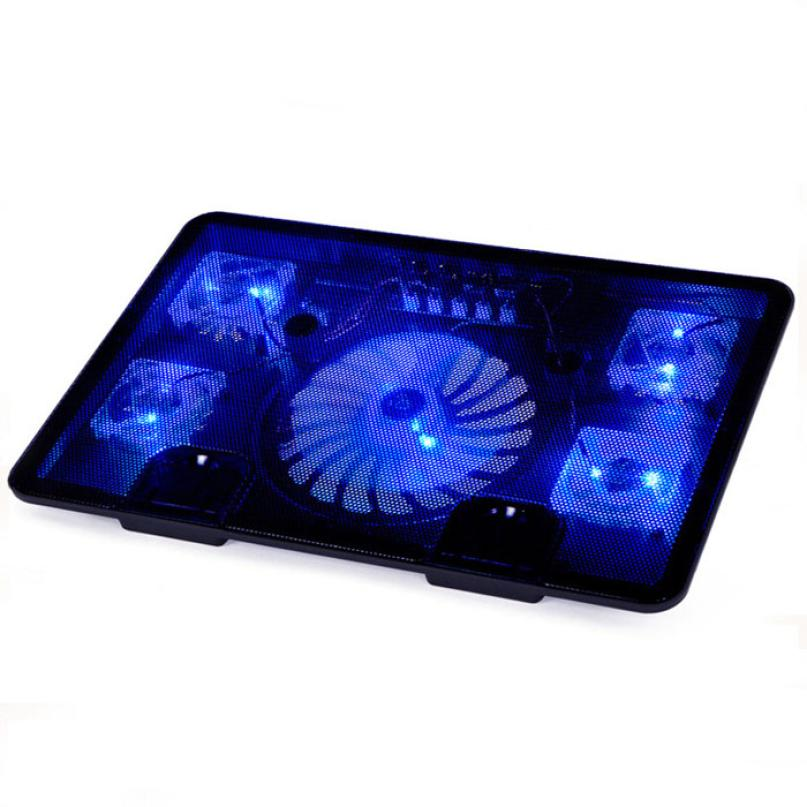 Beautiful Gitf New USB 5 Fan Port Cooling Cooler Pad for Laptops Notebook With LED Light