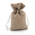 Wholesale Christmas gift jewelry jute pouch custom logo small burlap drawstring coffee bean favor bag for sale