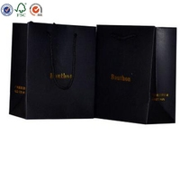 Manufacturer offer cheap merchandise packaging black card paper bags ,wholesale shopping bags, paper bag printing