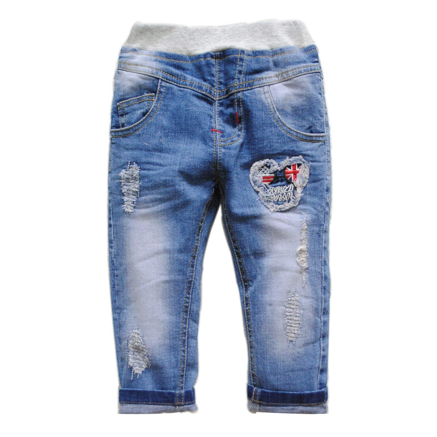 38ef8e9dc Get Quotations · 3937 Kids baby jeans baby boys trousers casual pants Blue  soft denim GIRL (24M)