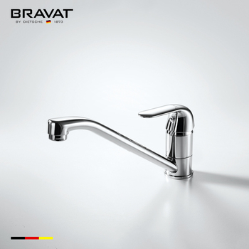 Deck mounted gooseneck kitchen faucet brass body zinc handle ...