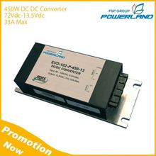 450W 72VDC to 13.5VDC 33A High Efficiency DC To DC Converter