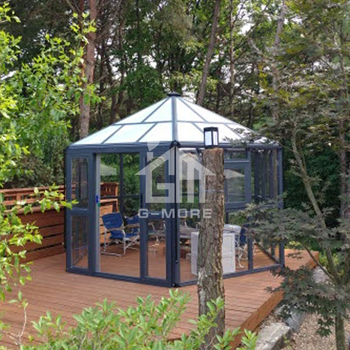 G-MORE High Quality Super Strong Luxury Aluminium Hexagonal Sunroom