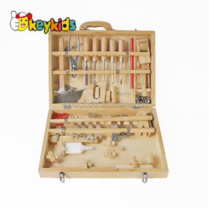 Wholesale newest educational toy simulation wooden repair tool kit toy for baby W03D046