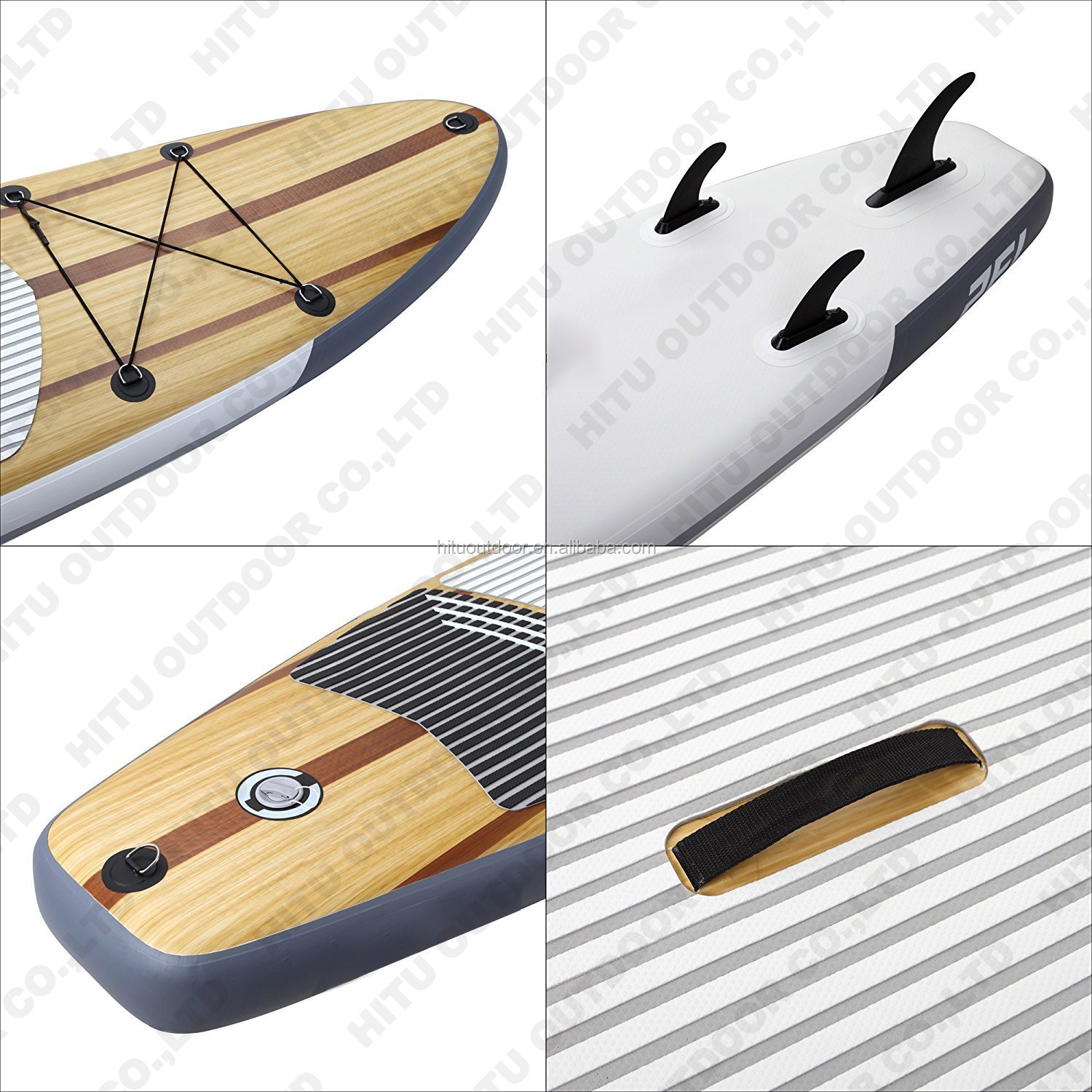 High quality Wood color Popular Stand up Paddle Board Surf Board Inflatable SUP Board