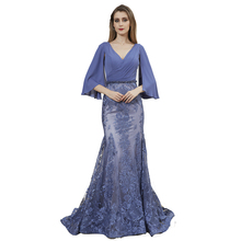 <span class=keywords><strong>Unik</strong></span> Setengah Lengan Chiffon Bordir Mermaid Bridesmaid <span class=keywords><strong>Gaun</strong></span>