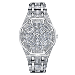 Wholesale Luxury Diamond Fashion Shining Crystal Lady or men Quartz Watch