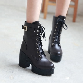 023a409f331 retro chunky heel platform women ankle boots shoes 2018 lady large size  winter shoes, View ladies elegant winter shoes, Ajis Product Details from  ...