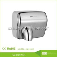 Stainless steel high speed jet air dryer sensor hand dryer