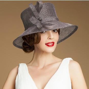 367d5eea5a6 wholesale 100% sinamay wedding church hats plain church hats for sale