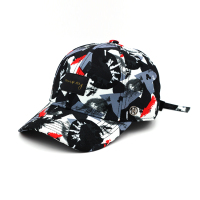 Metal Logo Strap Back Mens Sublimated Golf Hats Custom Caps
