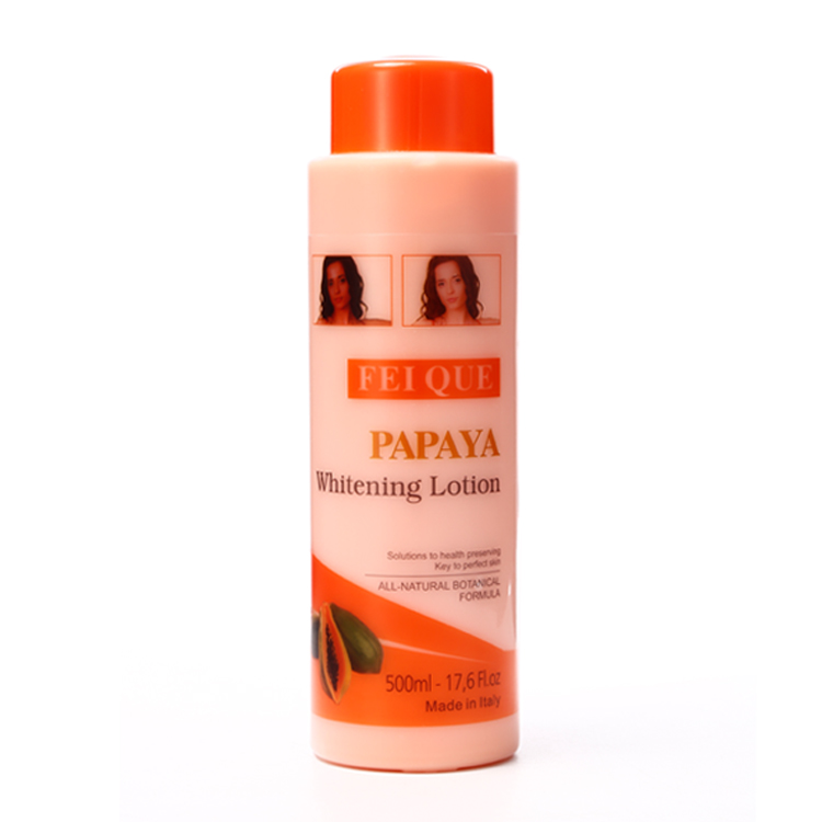 FEIQUE Hoge kwaliteit black skin body whitening gladde huid papaya whitening lightening lotions