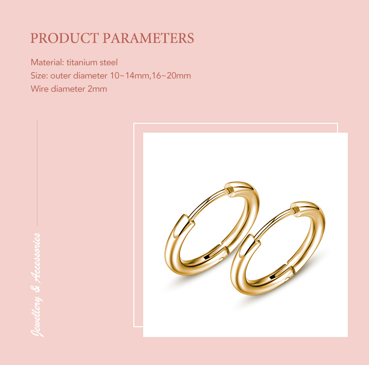2019 Hot Sale 4 Colors Fancy Jewelry Cheap Unisex Mini Hoop Stainless Steel Earring for Men