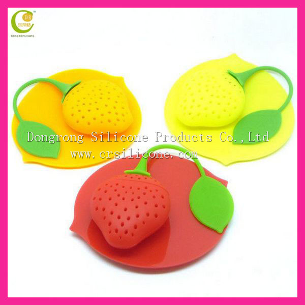 Lemon shape cute silicone fruit infusion tea,welcome customised shape and size