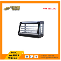 2017 new design stainless steel catering Food warmer heating element/glass food warmer display showcase WSH-03