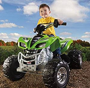 Electric Cars For Kids To Ride, Atvs For Kids,Kawasaki ATV Battery Powered, 12-volt Battery And Charger-For Hours of Total Fun!