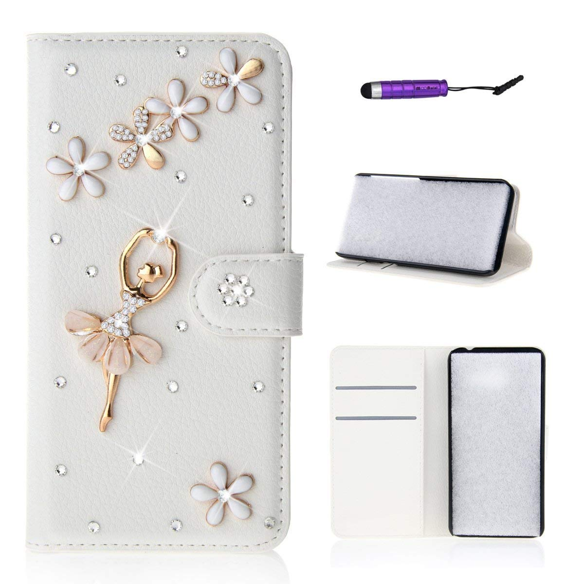 ZTE Blade A310 Case,Excellence Flip Premium PU Leather Wallet Case Flip with Kickstand and Credit Card Slot Cash Holder Flip Cover for ZTE Blade A310 ZTE Blade A310 / A462
