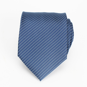 Business Famous Brand Name Navy Polyester Strip Tie For Sale