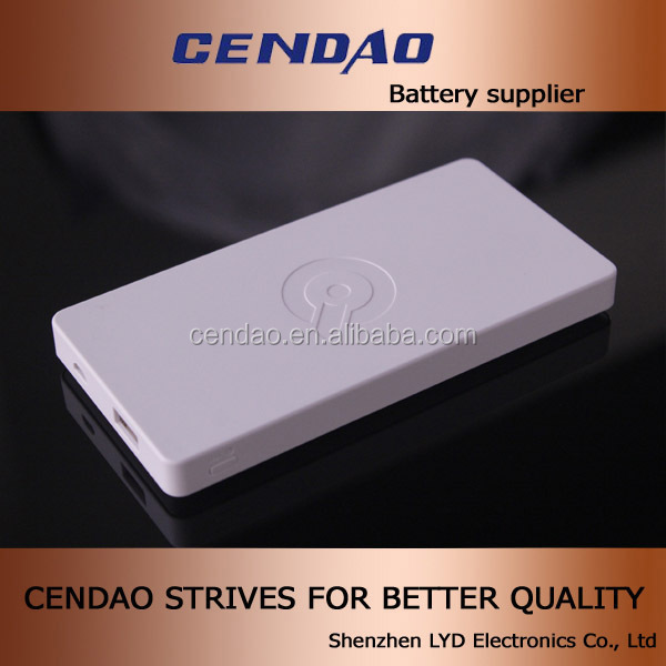 cendao oem smart usb bank logo printing secure and high capacity of 6000mah li-polymer battery wireless charger for 3ds xl