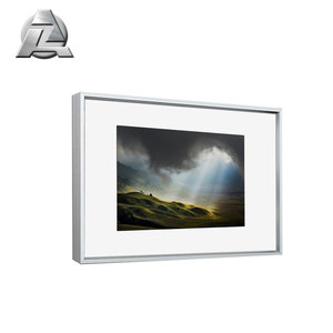 PF1002 a1 bright siver european simple design acrylic aluminum photo frame