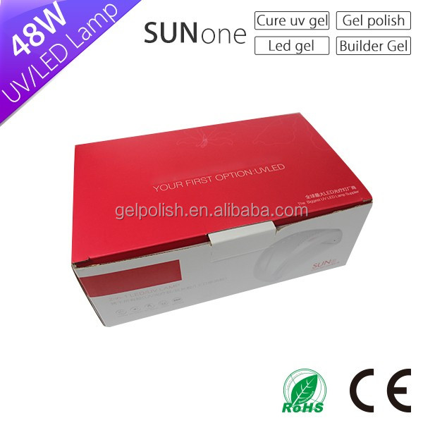 2016 Alibaba china fábrica SOL 1 sol one White Light 48 watt uvled secagem rápida 48 w uv Secador de lâmpada prego 40 w conduziu a lâmpada do prego para gel