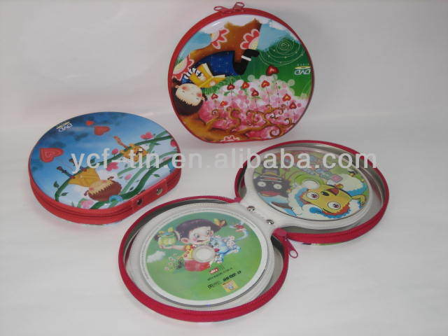 Wholesale Customized Round Plain Metal Tin CD Box With Zipper