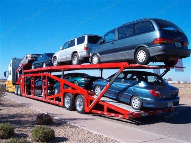 Car Carriers For Sale >> Enclosed Small Auto Transport Truck Trailer Car Carrier Semi Trailer