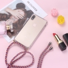 Strap Cord Chain Phone Fun Necklace Lanyard Mobile Phone Case for Carry Cover Case to Hang For iPhone XS Max XR X 7Plus 8Plus