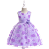 YY10522G Summer fashion kids princess dress high quality flower printed girl party dresses