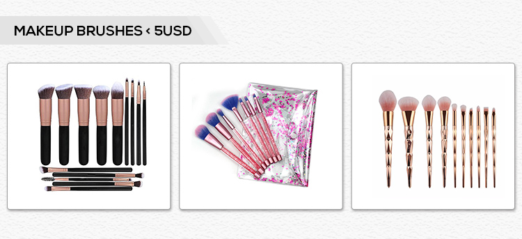 Free sample 6pcs Pink Handle Makeup Cosmetic Brush Set Eye Makeup Brushes Set