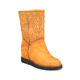 Flat comfortable Yellow winter snow boots women