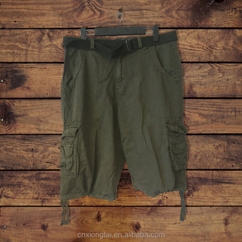 LOOSE COTTON TWILL CARGO SHORTS FOR ADULT MEN