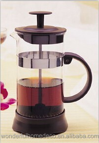 borosilicate glass french press/french drip coffee pot/pyrex glass coffee pot