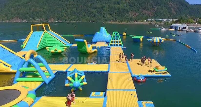 Flotante Inflable Parque De Agua Equipo Gigante De Juegos De Agua