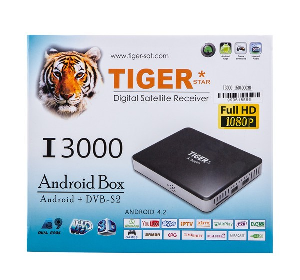 Hot Koop Tiger star Android TV Box Gratis 1 Jaar IPTV Ontvanger