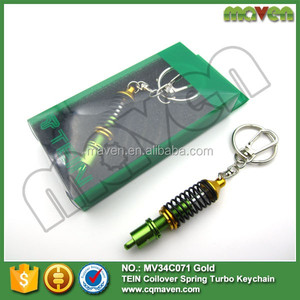 Maven JDM TURBO NOS Racing Keychain Damper Coilover GO FOR GREEN KEYRING CAR TUNING