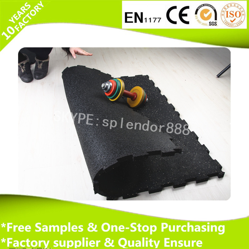 Gym Interlocking rubber mat for sports floor rolls and tiles