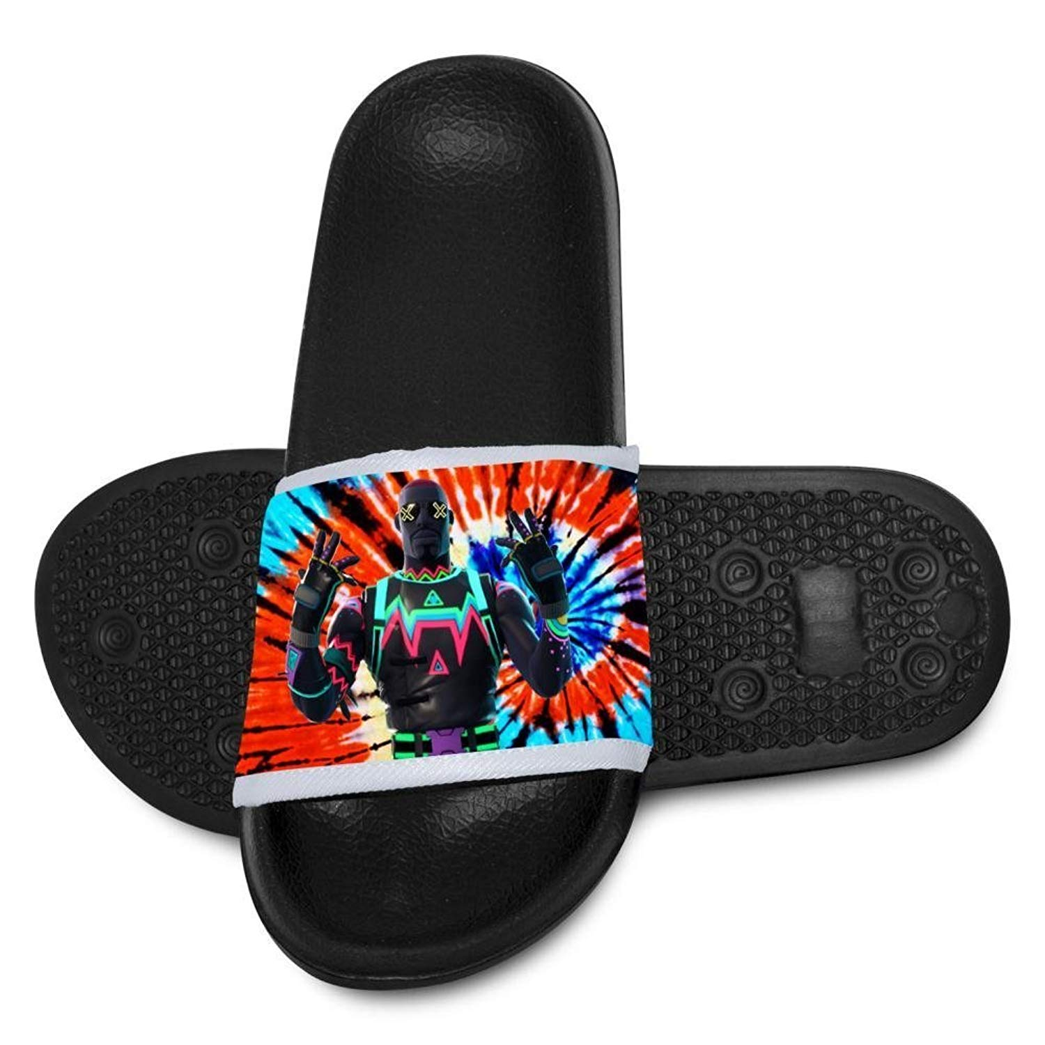 Hip Hop Panda Fireghter Slippers for Boy Girl Casual Sandals Shoes Creative 3D Printed Graphic Hipster Design